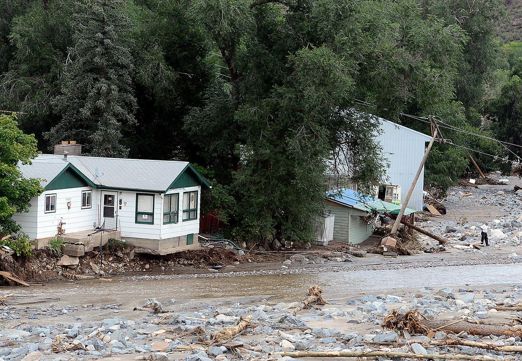 . Flood damage along U.S. 34 along the Big Thompson Canyon seen Tuesday, September 17, 2013. (Photo by Jenny Sparks/Loveland Reporter-Herald)
